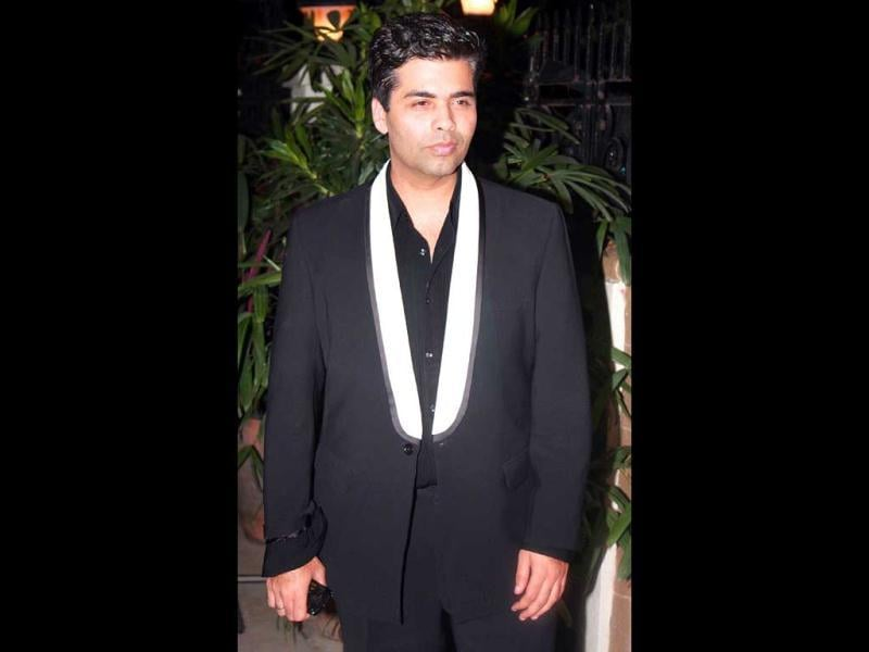 Karan Johar at the bash.