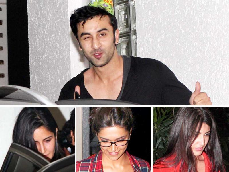 Bollywood was in full attendance at Ranbir Kapoor's birthday bash. Rumoured flame Katrina Kaif, ex flame Deepika Padukone, Anushka Sharma, Karan Johar and many others made their presence felt.
