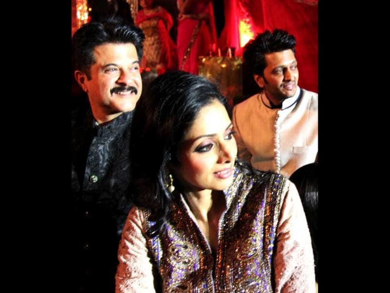 Anil Kapoor, Sridevi and Riteish Deshmukh also marked their attendance.