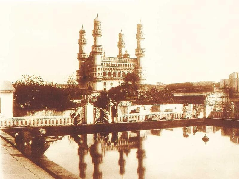 The Charminar (Hyderabad) with its Reflection in the pool of Me.jpg The Charminar (Hyderabad) with its Reflection in the pool