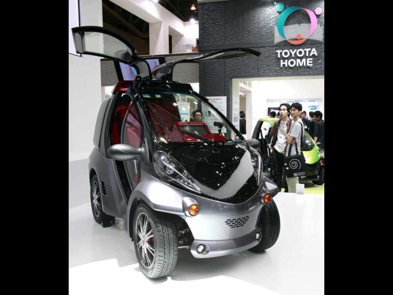 Toyota Motor Corp's single-seater Smart Insect vehicle, which features a facial-recognition technology, is displayed at CEATEC Japan 2012 electronics show in Chiba, Tokyo. Reuters Photo