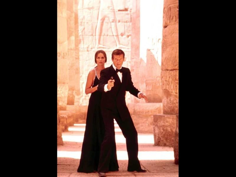 October 5 marks half century of the successful Bond film franchise, and will be celebrated as the Global James Bond Day. Roger Moore, right, as James Bond, and Barbara Bach as Major Anya Amasova, in the 1977 film, The Spy Who Loved Me.