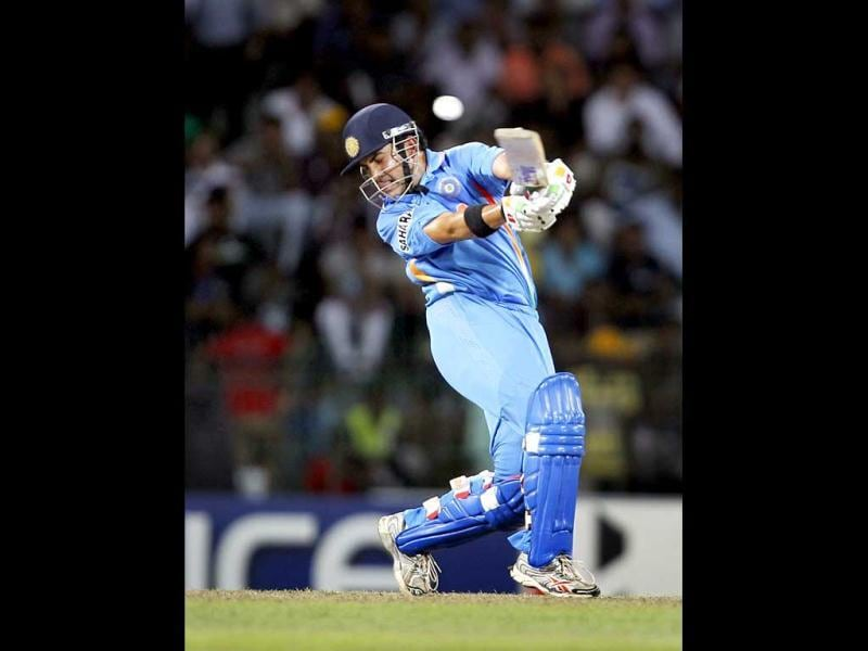 Gautam Gambhir bats during the ICC Twenty20 Cricket World Cup Super Eight match between India and South Africa in Colombo, Sri Lanka. HT Photo/Ajay Aggarwal
