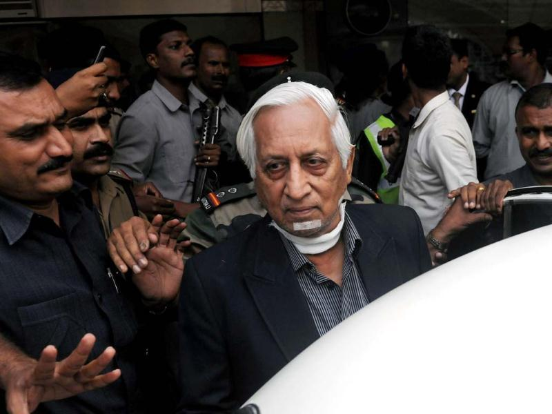 Retired lieutenant general Kuldip Singh Brar is escorted out of the Chattrapati Shivaji International Airport after his arrival from London in Mumbai. Brar, 78, who led Operation Blue Star in 1984 was stabbed in a London street by four people. AFP photo