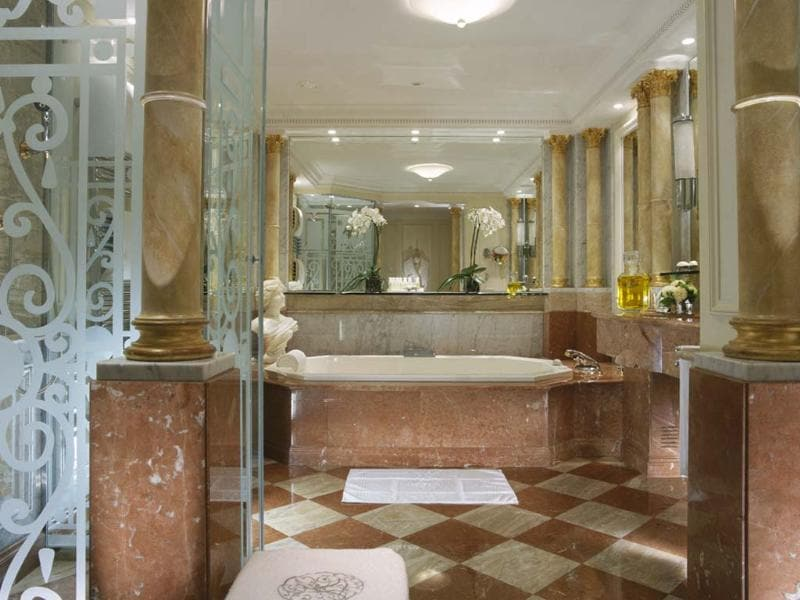 One of the bathrooms of the Royal Suite