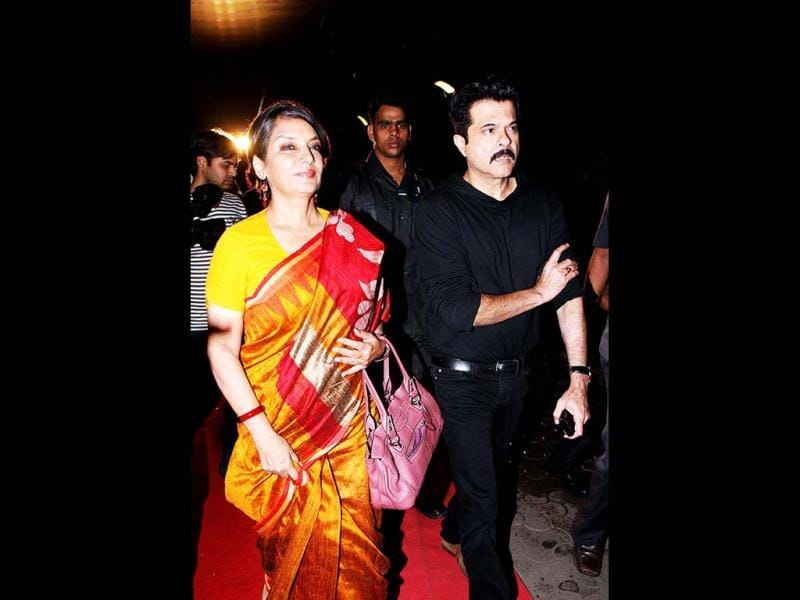 Bollywood actors Shabana Azmi and Anil Kapoor attended the screening of Chittagong. (AFP)