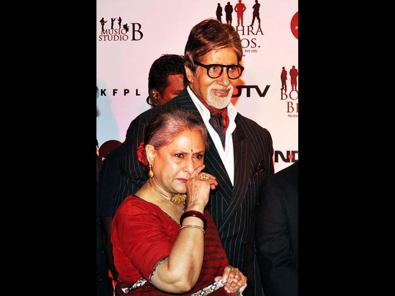 Amitabh and Jaya Bachchan attend the screening of Chittagong. (AFP)