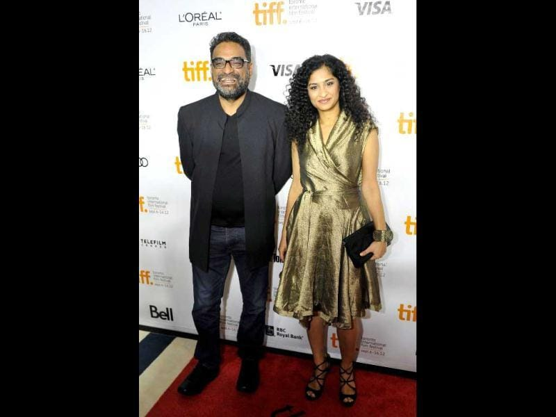 Director Gauri Shinde with husband and producer of the film R Balki.