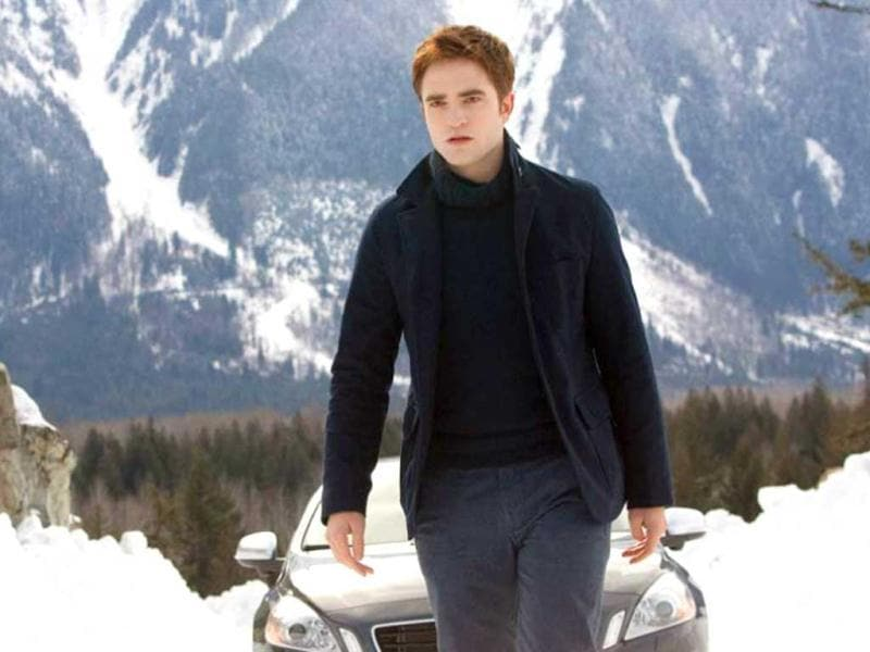 Robert Pattinson as Edward Cullen in the final Twilight franchise: Breaking Dawn Part 2.