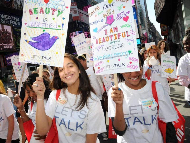 General view of the 3rd Annual Dove Self-Esteem Weekend at Times Square in New York City. (Ilya S. Savenok/Getty Images)