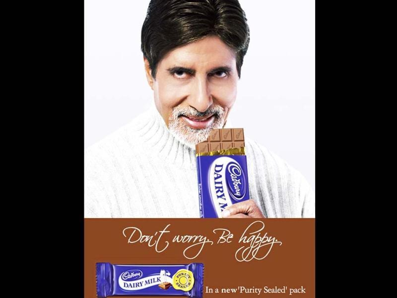 The megastar also used to endorse Dairy Milk chocolate.