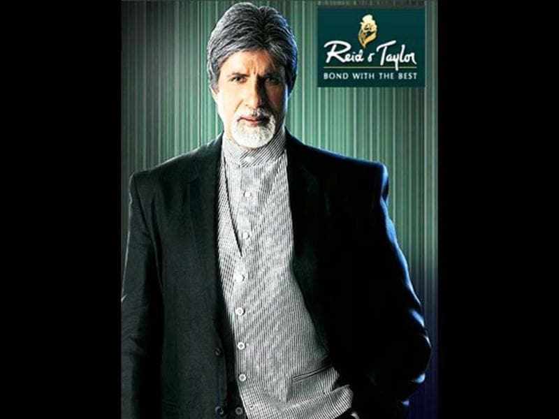 Amitabh Bachchan also appeared in Reid & Taylor suitings since 2009.