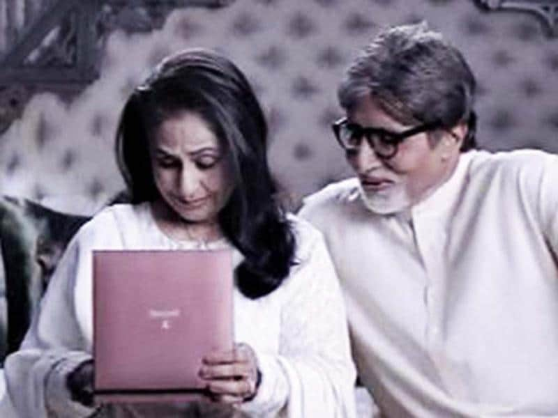 On Amitabh Bachchan's 70th birthday, we take you through his small screen journey. In the above picture, Big B is seen with wife Jaya Bachchan in an advertisement for Tanishq True Dimonds in 2011.