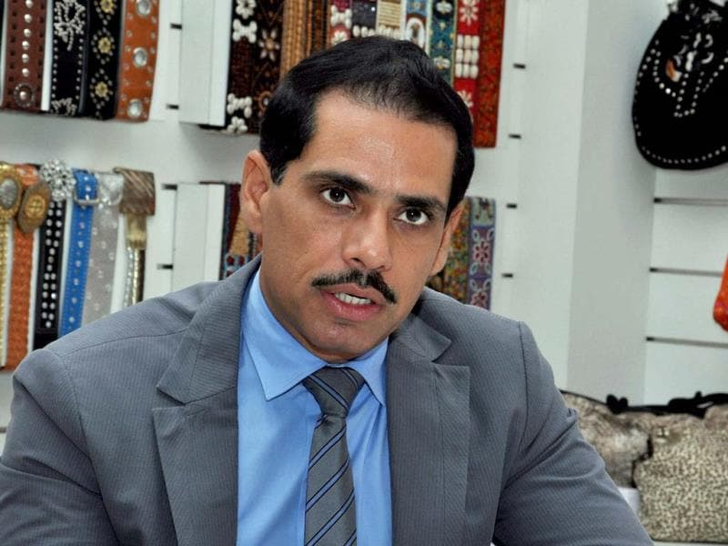 Congress president Sonia Gandhi's son-in-law Robert Vadra is seen in this file photo. PTI