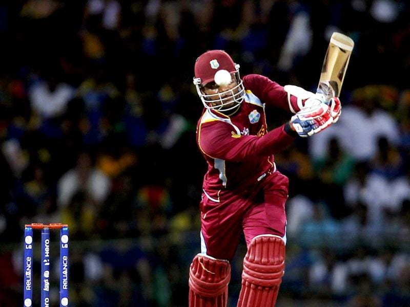 West Indies' Marlon Samuels bats during the ICC World T20 cricket final between Sri Lanka and West Indies at R Premadasa Stadium. Ajay Aggarwal/Hindustan Times