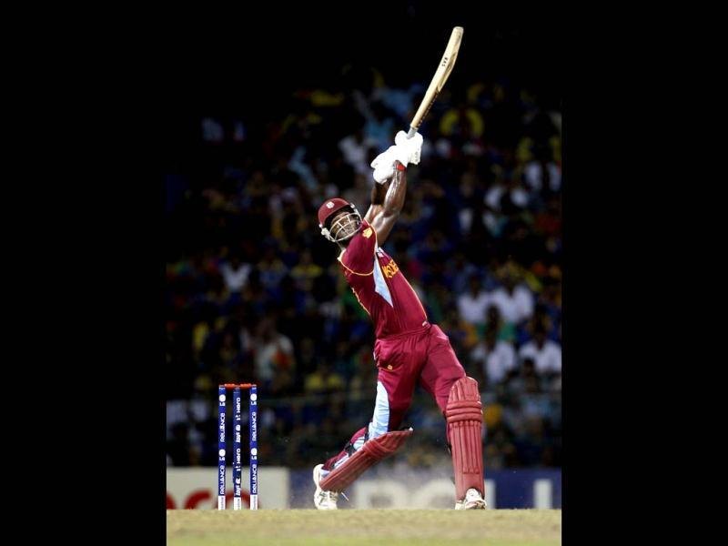 West Indies' captain Darren Sammy bats during the ICC World T20 final between Sri Lanka and West Indies at R Premadasa Stadium. Ajay Aggarwal/Hindustan Times