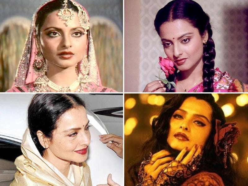 Be it the chirpy Manju of Khoobsoorat, revengeful Aarti of Khoon Bhari Maang, courtesan of Umrao Jaan or even a seductive crooner in Parineeta, Rekha has breathed life into innumerable characters. As she turns 59, here's a tribute to the all-time diva.