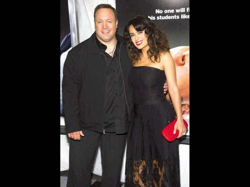 Kevin James and Salma Hayek attend the