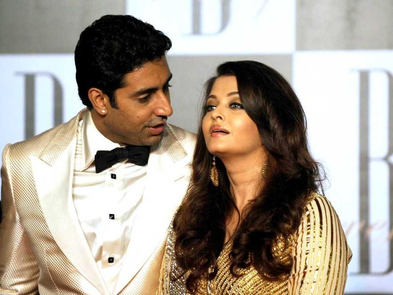 Abhishek Bachchan can't take his eyes off Aishwarya.