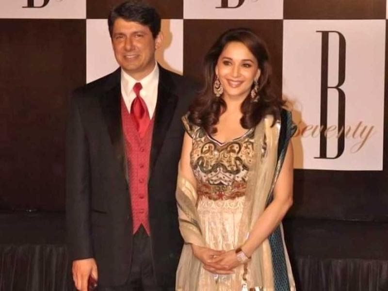 Madhuri Dixit and husband Sri Ram Nene.