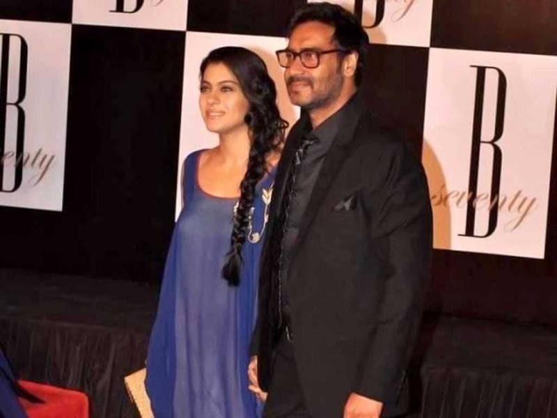 Kajol arrives with hubby Ajay Devgn.