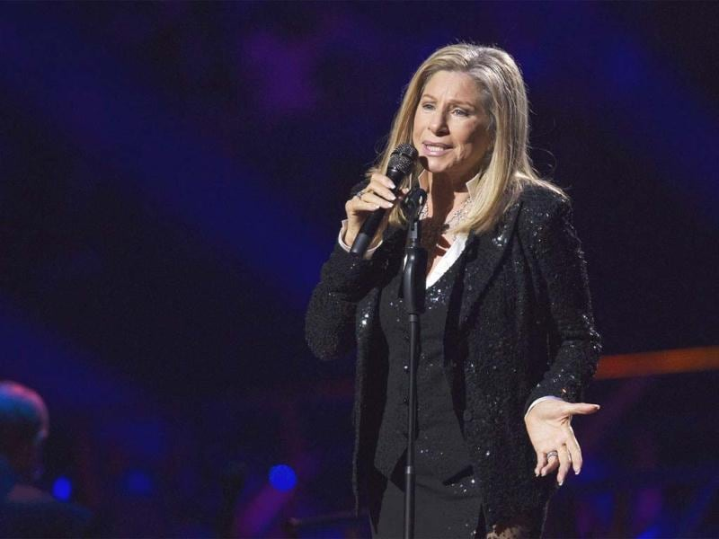 Singer Barbara Streisand performs at Barclays Center in the Brooklyn borough of New York. Reuters photo