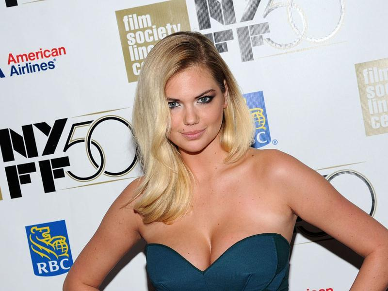 Kate Upton attends the No Premiere During The 50th New York Film Festival at Alice Tully Hall in New York City. AFP photo
