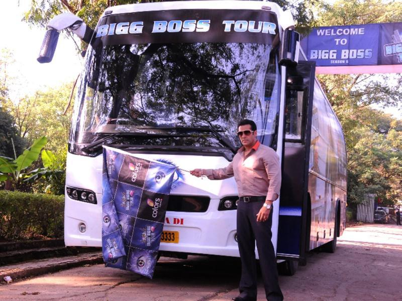 Make way for the Bigg Boss bus, which will take people on a ride to the location of the show in Lonavala. People will be able to see live scenes from the house at the production control units set up there.