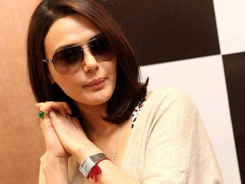 Preity poses for shutterbugs.