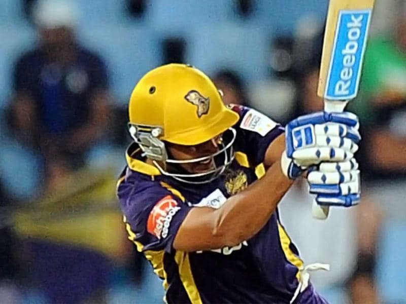 Kolkata Knight Riders batsman Manvinder Bisla plays a shot during a Group A match against Delhi Daredevils in The Champions League T20 at Super Sports Park in Centurion. AFP Photo