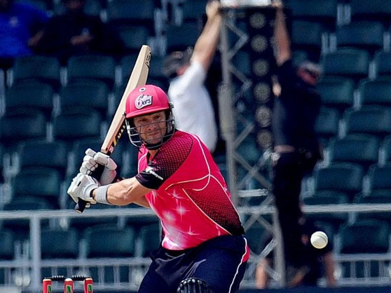 Sydney Sixers batsman Shane Watson plays a shot during a Group B match of the Champions League T20 between the CSK and the Sydney Sixers at the Wanderers Stadium in Johannesburg. AFP photo