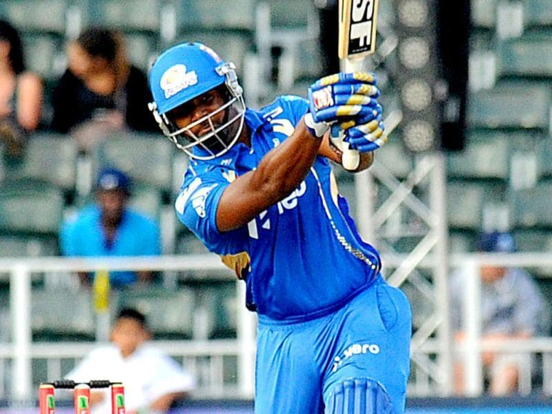 Mumbai Indians batsman Dwayne Smith plays a shot during a Group B match of the Champions League T20 (CLT20) between the Highveld Lions and the Mumbai Indians in Johannesburg. AFP/Alexander Joe