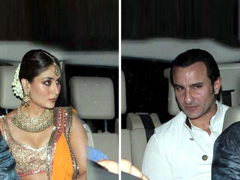 Saif Ali Khan and Kareena Kapoor's sangeet function was a private affair held at Saif's new duplex apartment in Bandra.