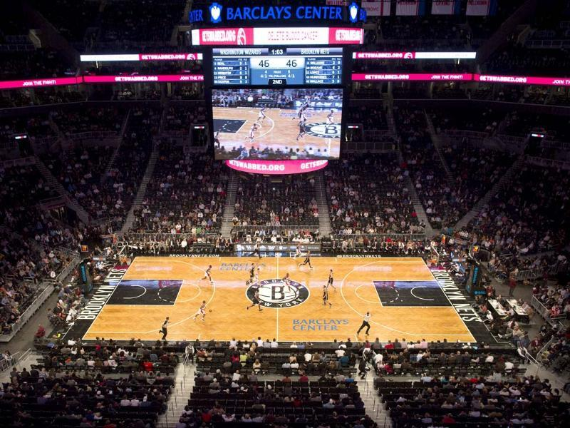 The Brooklyn Nets play the Washington Wizards during a preseason NBA basketball game at Barclays Center in New York. AP/John Minchillo