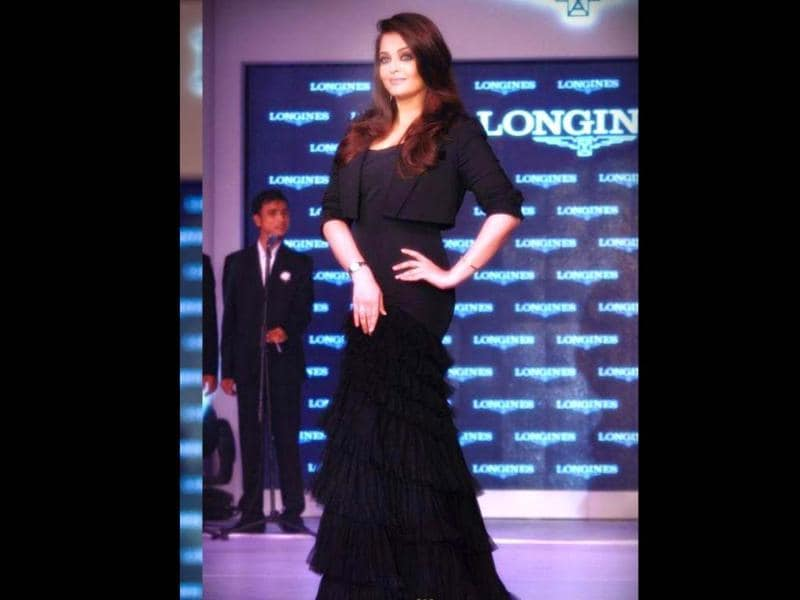 Aishwarya Rai Bachchan unveiled the new Longines Saint-Imier collection on October 15 in New Delhi.