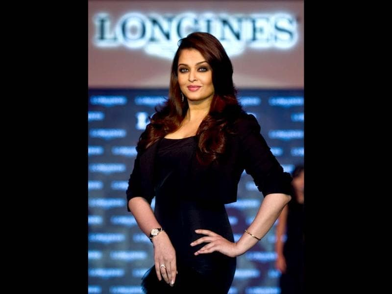 Aishwarya Rai Bachchan is clearly back to the business, the new mom in B-Town is proving everyone wrong and is making a statement in a black attire at a recently held promotional event for Longines.