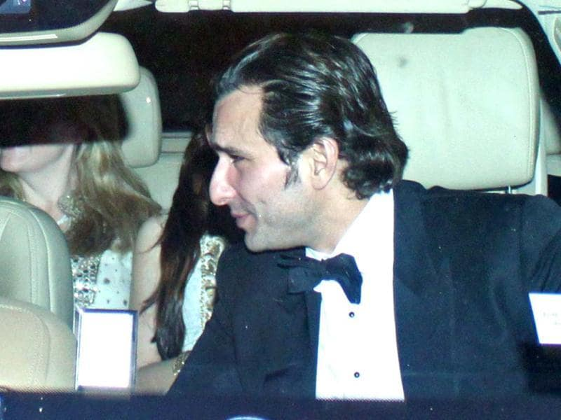 Saif Ali Khan looked handsome in a tuxedo.