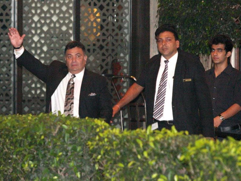 Kareena Kapoor's uncle Rishi Kapoor arrives for the occasion. (Photo/Prodip Guha)