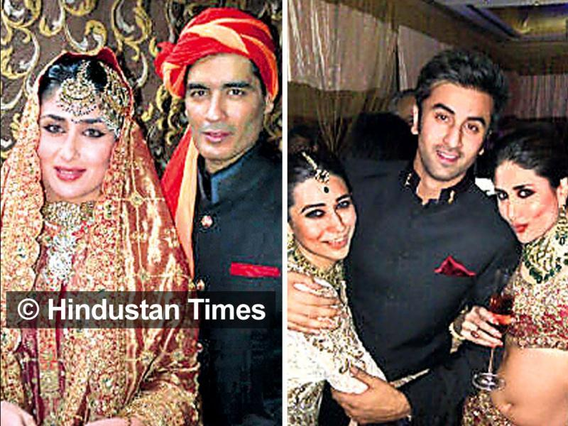 New bride Kareena Kapoor Khan looked stunning at her wedding as well as reception. Check out!