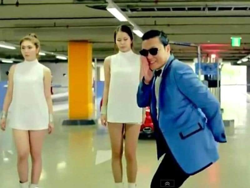 A still from the original Gangnam style video.