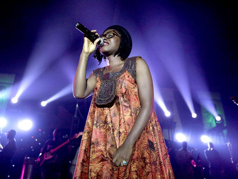 Nigerian artist Asa performs at