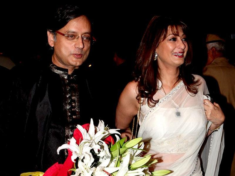 File photo: Shashi Tharoor and Sunanda Pushkar. (HT Photo/Manoj Verma)