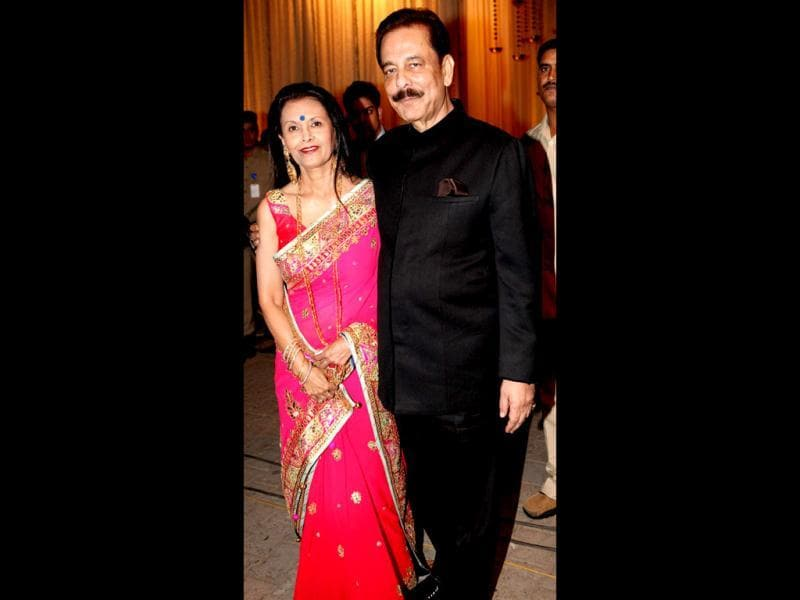 Businessman Subrata Roy Sahara with wife. (Photo/Manoj Verma)