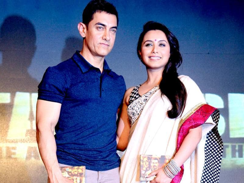 Aamir Khan and Rani look good together as they launch Talaash music. (AFP)