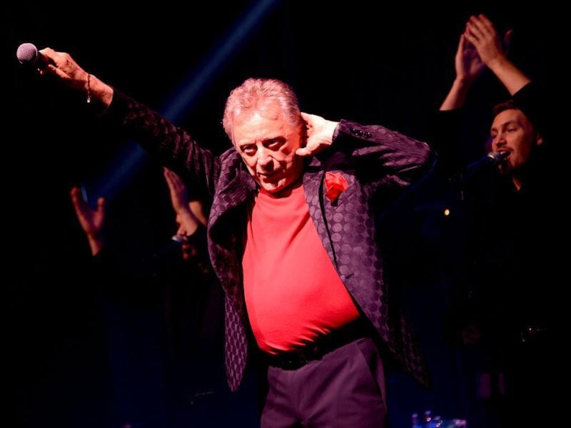 Singer Frankie Valli attends the Frankie Valli And The Four Seasons 50th Anniversary Celebration event at the Broadway Theatre in New York City. AFP photo
