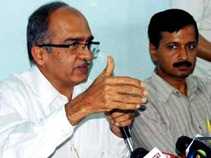 Prashant Bhushan: Well-known activist-lawyer is known to be the key player behind the decision to form a political party. He met Kejriwal in 2003 during the campaign for RTI. (PTI photo)