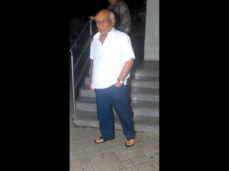 Veteran filmmaker Yash Chopra passed away in Mumbai on Sunday. He was suffering from dengue and was admitted to Lilavati hospital in Mumbai. A file photo of Chopra in Mumbai.