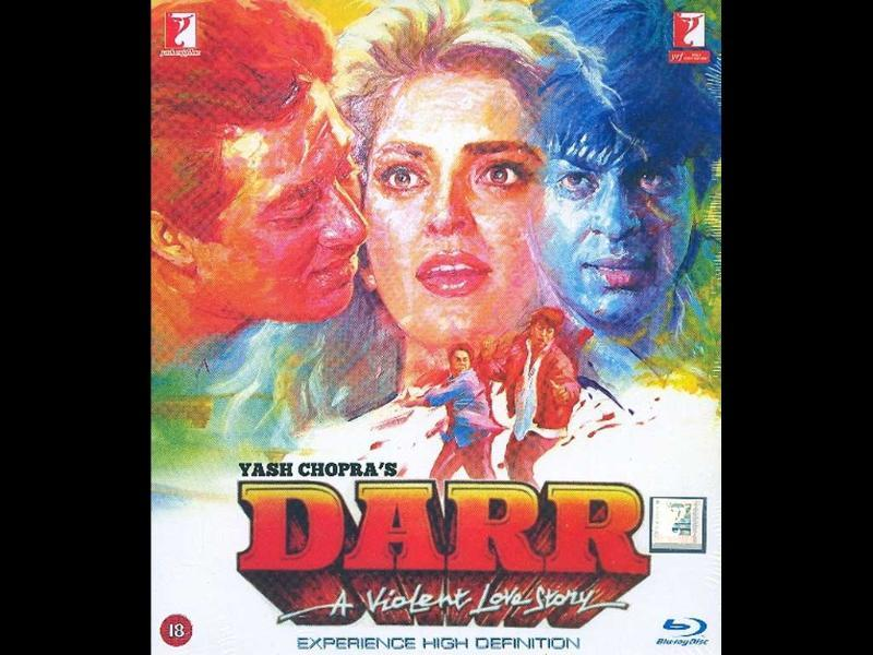 Darr (1993): A woman is caught between one man's love and another man's obsession. The film starred Shah Rukh Khan, Sunny Deol, Juhi Chawla and Anupam Kher.