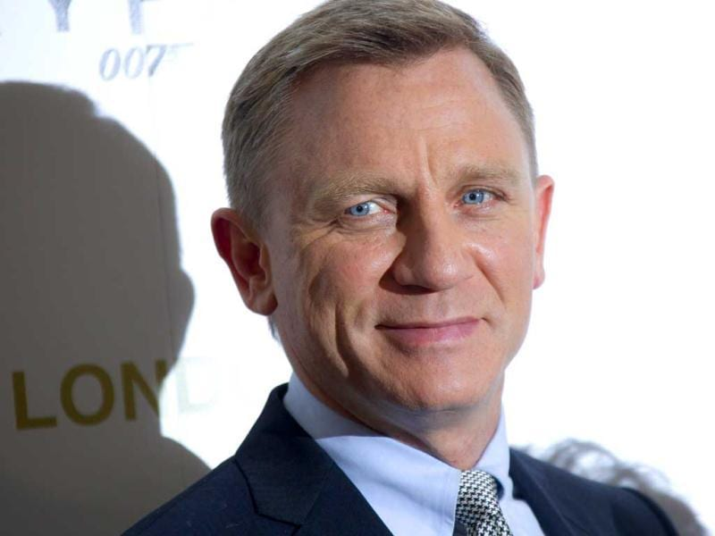 Bond, James Bond: Daniel Craig looks suave as he poses during the photocall at the UK premiere.