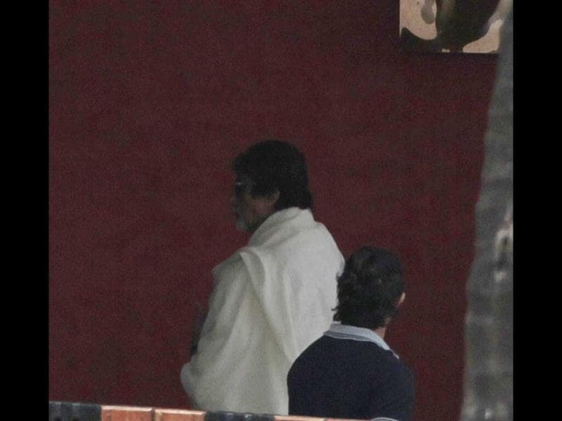 Amitabh Bachchan was there to pay condolence to the late filmmaker.